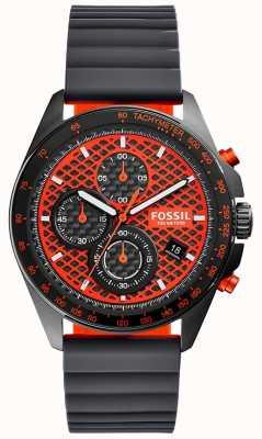 Fossil Mens Sport 54 Chronograph Black Orange CH3078