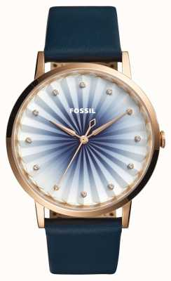 Fossil Womans Vintage Muse Navy Leather ES4198