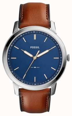 Fossil Mens Minimalist Brown Leather FS5304