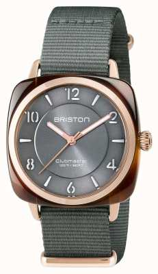 Briston Unisex Clubmaster Chic Grey Acetate PVD Rose Gold 17536.PRA.T.11.NG