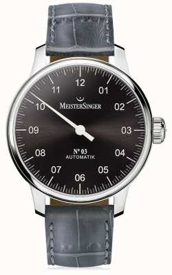 MeisterSinger Mens Classic No. 3 Automatic Sunburst Anthracite AM907
