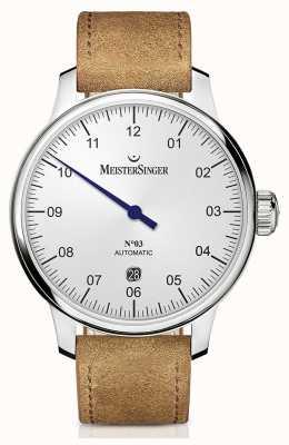 MeisterSinger Mens Classic No. 3 Automatic 40mm Opaline-Silver DM901
