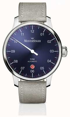 MeisterSinger Mens Classic No. 3 Automatic 40mm Sunburst Blue DM908