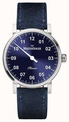 MeisterSinger Mens Form And Style Phanero Handwound Sunburst Blue PH308