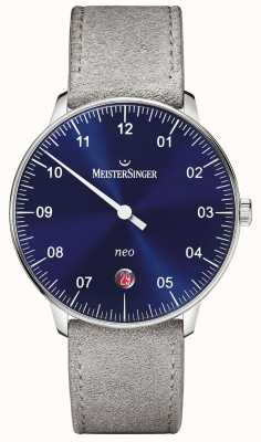 MeisterSinger Mens Form And Style Neo Automatic Sunburst Blue NE908N