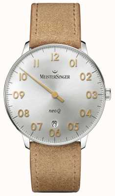 MeisterSinger Mens Form And Style Neo Q Quarz Sunburst Silver NQ901GN
