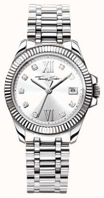 Thomas Sabo Womens Divine Stainless Steel Bracelet Silver Dial WA0252-201-201-33