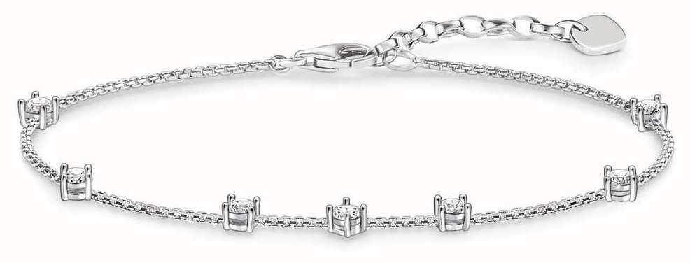 Thomas Sabo Women Silver Charm Bracelet - A1659-051-14-L19v lBTvB