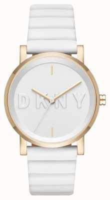 DKNY Womans Soho White Strap White Dial NY2632