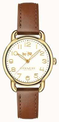 Coach Womans Delancey Watch Brown Leather Strap 14502706