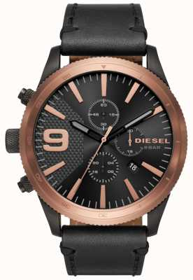 Diesel Gents Rasp Chrono Rose Gold/black Watch DZ4445