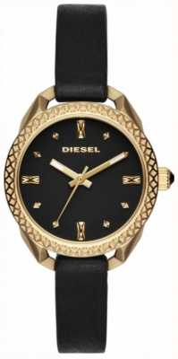 Diesel Ladies Shawty Black And Gold Watch DZ5547