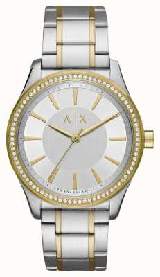 Armani Exchange Ladies Nicolette Two Tone Watch AX5446