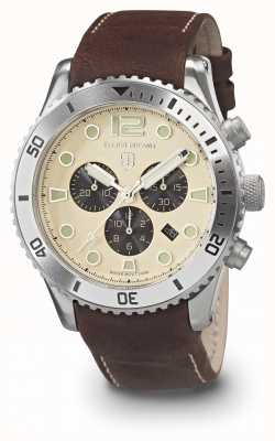 Elliot Brown Mens Bloxworth Cream And Brown Oiled Leather Strap 929-014-L18