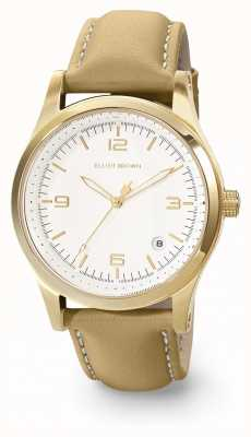 Elliot Brown Womans Kimmeridge White And Caramel Oiled Leather Strap 405-007-L59