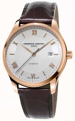 Frederique Constant Mens Classics Index Automatic Brown Leather Strap FC-303MV5B4