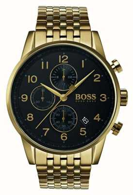 Hugo Boss Mens  Navigator Classic Black Dial Watch 1513531