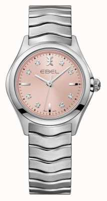 EBEL Wave Womens Pink Dial stainless steel Watch 1216217