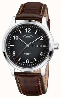 Muhle Glashutte Mens Lunova Automatic Day/Date Titanium Case Brown Leather M1-43-26-LB