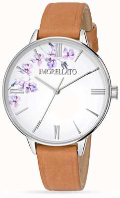 Morellato Womens Ninfa Brown Leather Watch R0151141507