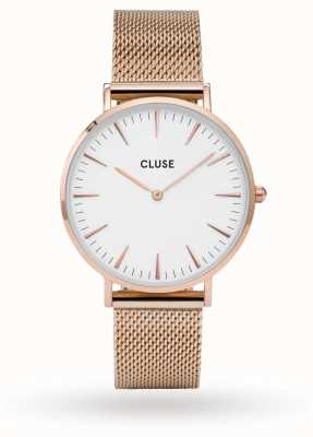 CLUSE La Boheme Rose Gold Case White Dial/rose Mesh Strap CL18112