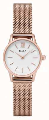 CLUSE La Vendette Rose Gold Case White Dial/rose Mesh Strap CL50006