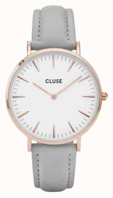 CLUSE La Boheme Rose Gold Case White Dial/grey Strap CL18015