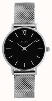 CLUSE Minuit Silver Case Black Dial/silver Mesh Strap CL30015