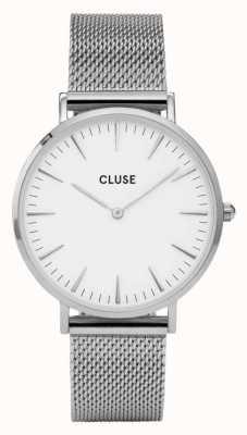 CLUSE La Boheme Silver Case White Dial/silver Mesh Strap CL18105