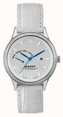 GANT Womens Kingstown White Leather Strap White Dial W10765
