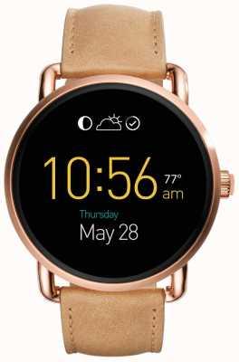 Fossil Gen 2 Q Wander Smartwatch Light Brown Leather FTW2102