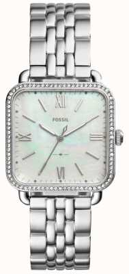 Fossil Womens Micah Stainless Steel Strap Mother Of Pearl Dial ES4268