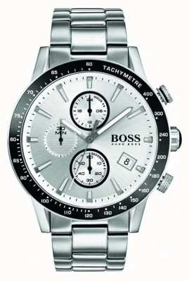 Boss Mens Rafale Chronograph White Dial 1513511