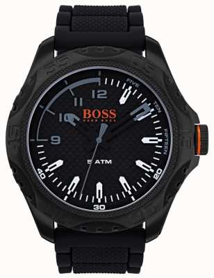 Hugo Boss Orange Mens Honolulu Watch In Black Rubber 1550032
