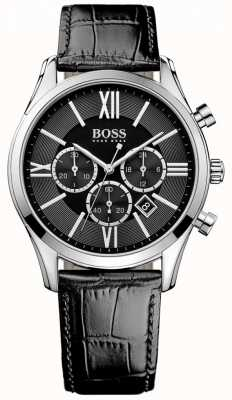 Hugo Boss Ambassador Black Leather 1513194