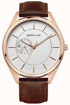 Bering Mens Automatic Brown Leather Strap 16243-564