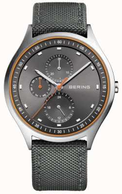 Bering Mens Ultra Light Titanium Chronograph Nylon Grey 11741-879