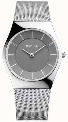 Bering Womans Classic Round Silver Milanese Strap 11936-309