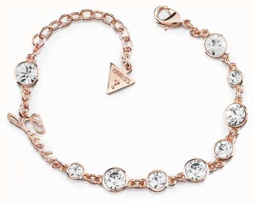 Guess Crystal Beauty Crystal Bracelet Rose Gold UBB84128-L