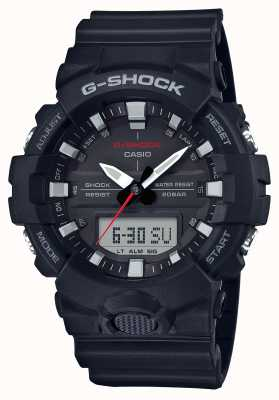 Casio Mens G-Shock Alarm Chrono Rubber Strap Black GA-800-1AER
