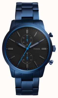 Fossil Mens Townsman Blue Stainless Steel FS5345