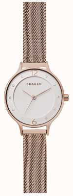 Skagen Womans Anita Medium Rose Gold Tone Mesh SKW2650