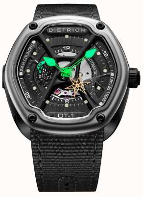 Dietrich Organic Time Satin Black Case Black Fabric Strap OT-1