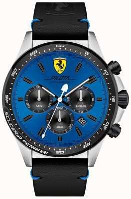 Scuderia Ferrari Men's Pilota Blue Chronograph Dial Watch 0830388