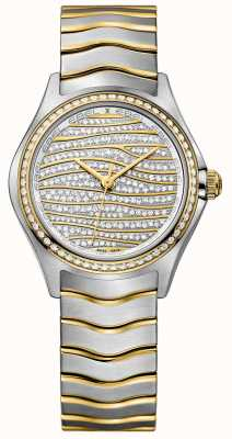 EBEL Womens Wave 58-diamond 18k Gold Watch 1216285