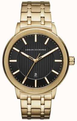 Armani Exchange Mens Gold Tone Metal Bracelet AX1456