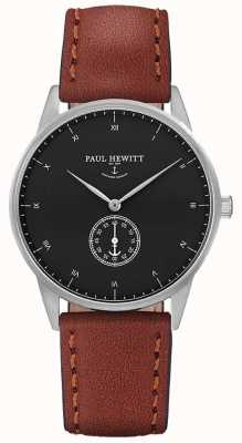Paul Hewitt Unisex Signature Brown Leather Strap PH-M1-S-B-1M