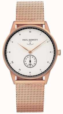 Paul Hewitt Unisex Signature Rose Gold Tone Mesh Bracelet PH-M1-R-W-4M