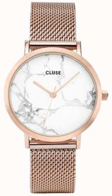 CLUSE Womans La Roche Rose Gold Mesh Marble Dial CL40007