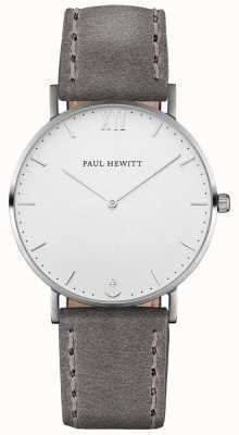 Paul Hewitt Unisex Sailor Grey Leather Strap PH-SA-S-ST-W-13M